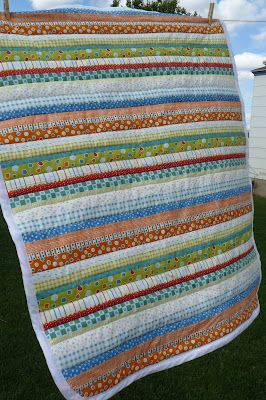 easy diy quilts | ... stripes and make it look like a stripe quilt that I pieced together