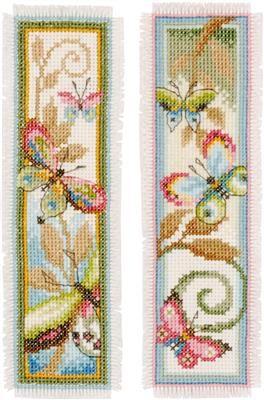 Deco Butterflies Cross Stitch Bookmarks Cross Stitch Animals