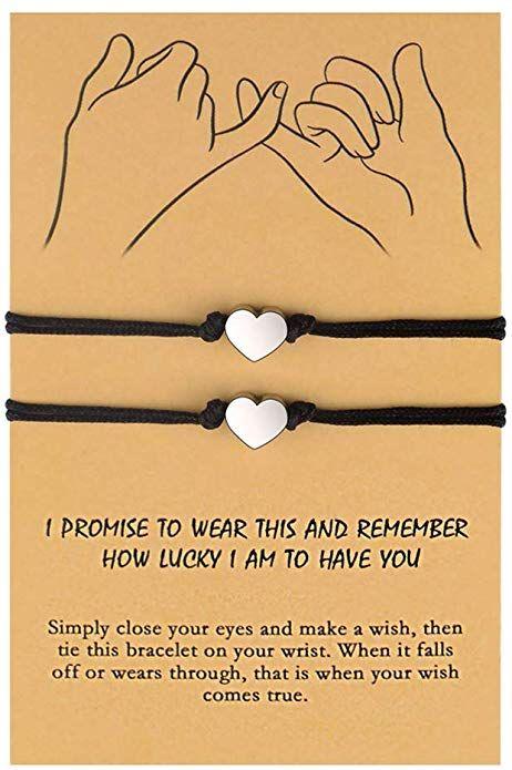 Boyfriend and Boyfriend Wish Bracelet Valentine Wish Bracelet Boyfriend Wish Bracelet Romantic Wish Bracelet Gay Couple Gift