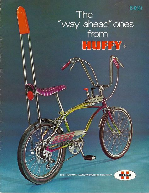 Huffy Catalog 1 1969 Huffy Catalog I had a bike similar to this when I was a kid. Many good times exploring the neighborhood . Huffy Catalog I had a bike similar to this when I was a kid. Many good times exploring the neighborhood . Velo Retro, Velo Vintage, Retro Bike, Vintage Bicycles, Vintage Ads, My Childhood Memories, Childhood Toys, Banana Seat Bike, Velo Design