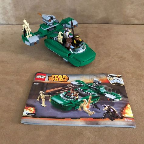 8086 Lego Star Wars Droid Tri Fighter Complete Box Minifig