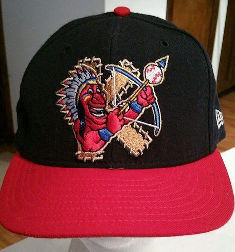 Kinston Indians Minor League Baseball Cap Wool Hat New Era 59fifty Fitted 7 1 8 Newera Kinstonindians