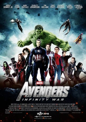 Avengers Infinity War 2018 Dual Audio 400mb Hindi Hdts
