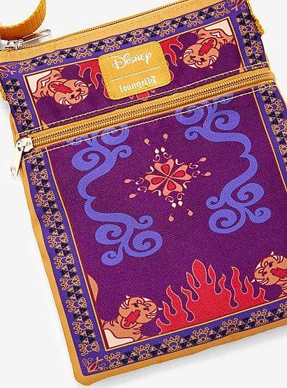 Loungefly Disney Aladdin Magic Carpet Passport Crossbody Bag Magic Carpet Disney Aladdin Aladdin Magic Carpet