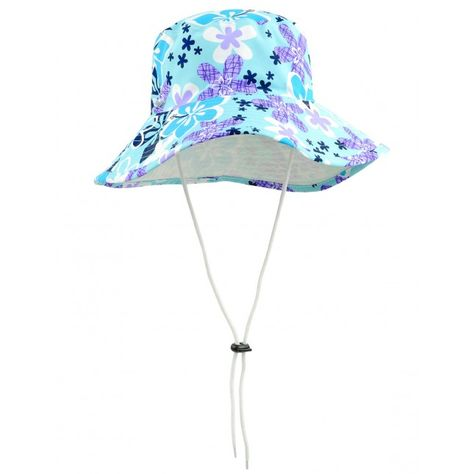 fa30b6a5b39 HIBISCUS by TUGA   Sun Protective and Super Vibrant Girl s Reversible  Bucket Hat with Wide Brim in TURQUESA