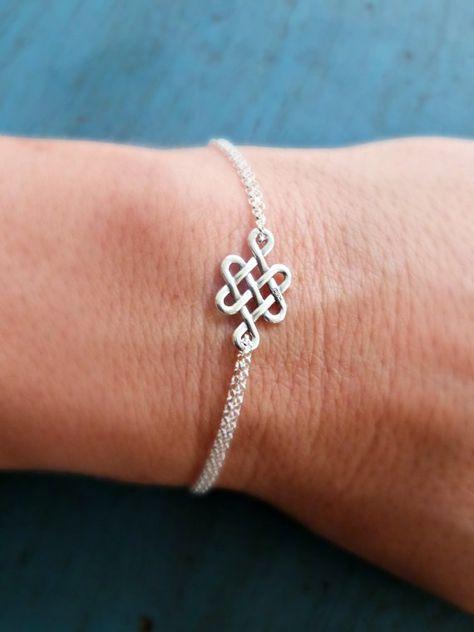 Knot Bracelet Celtic Knot Friendship by vintagestampjewels on Etsy
