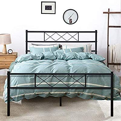 Amazon Com Vecelo Metal Platform Bed Frame Mattress Foundation