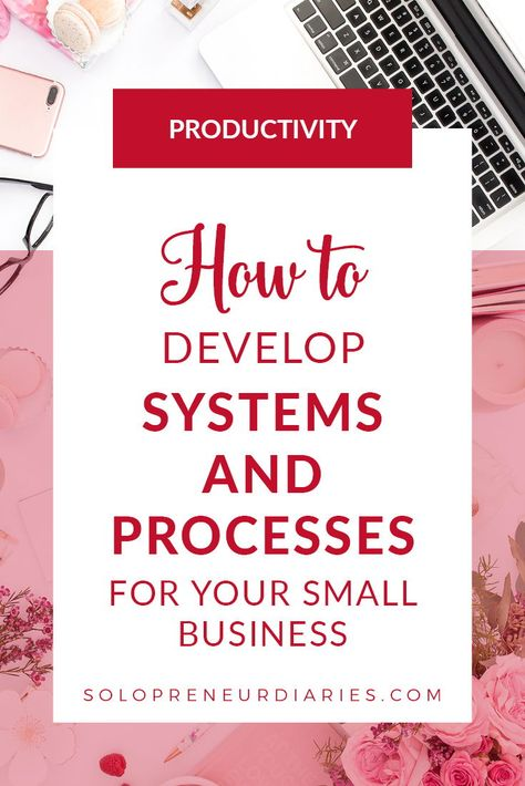 How to Save Your Sanity With Systems and Processes Having systems and processes in place helps improve your business productivity. Start by identifying core business processes. Click through for simple business process examples that you can use. Business Planning, Business Tips, Online Business, Big Business Ideas, Small Business Plan, Business Education, Business Inspiration, Business Goals, Start Up Business
