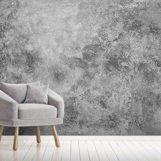Aged Concrete Wallpaper Wallsauce Us In 2020 Grey Textured Wallpaper Concrete Wallpaper Living Room Design Decor