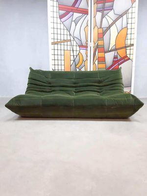 Vintage Forest Green Velvet Togo Sofa By Michael Ducaroy For Ligne Roset For Sale At Pamono Ligne Roset Togo Sofa Ligne Roset Sofa