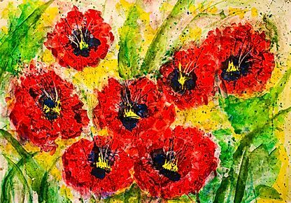 Mohnblumen Wandbilder In 2020 Blumenbilder Wandbild Abstrakt Blumen Malen