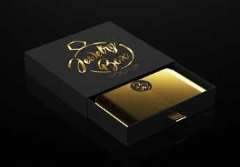 Download Open Black Jewelry Box Mockup Sponsored Black Open Jewelry Mockup Box Ad Box Mockup Black Jewelry Modern Branding Logo