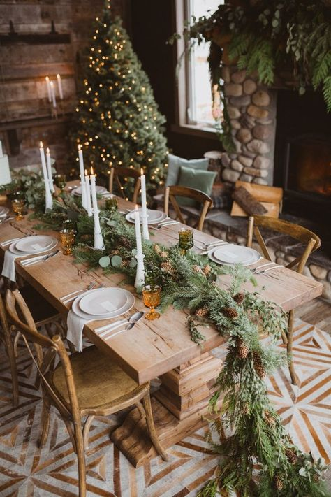 "Fresh Pine Rustic Getaway Winter Wedding - - Say ""I do"" in the Canadian Rocky Mountains with this pine infused style!"