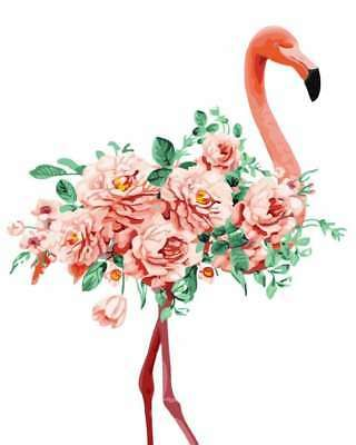 Details About Diy Paint By Number Kit 16 20 Acrylic Painting On Canvas Rose Flower Flamingo Flamingo Painting Flamingo Art Acrylic Painting Canvas