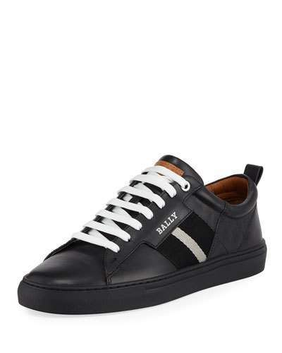 Helvio Leather Low-Top Sneakers
