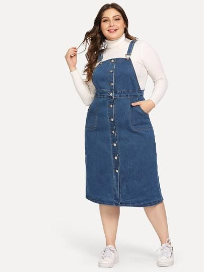 durable service fashion design newest collection Sara Plus Size Denim Dress | Outfits in 2019 | Denim dresses ...