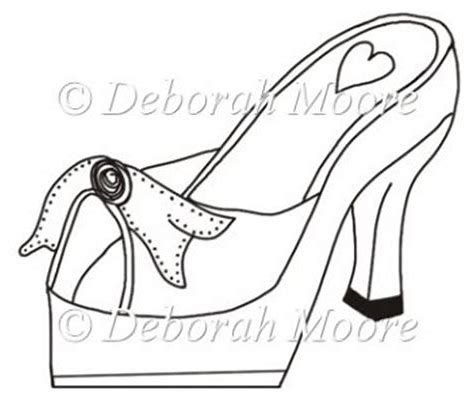 Image Result For High Heel Paper Shoe Template Paper Shoes Shoe Template Card Making Templates