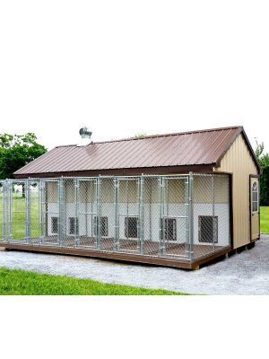 Fully Assembled 4 X 8 Ft Amish 1 Run Dog Kennel Fully Assembled 4 X 8 Ft Amish 1 Run Dog Kennel Metaldogk In 2020 Dog Kennel Metal Dog Kennel Architectural Shingles