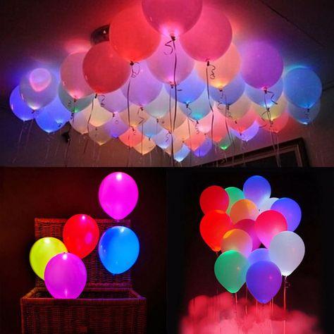 50x Leuchtende Led Luftballons Geburtstag Hochzeit Party Deko Club