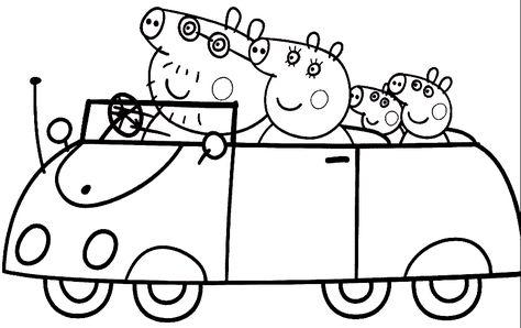 Dibujos De Peppa Pig Para Colorear Dibujo De Peppa Pig Peppa