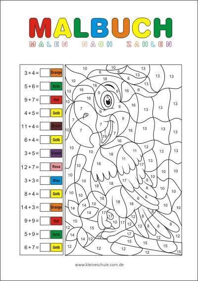Rechnen Und Malen Zr 20 Matheaufgaben Für Die 1 Klasse