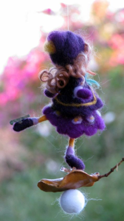 Needle felted ornament Christmas ornament Waldorf inspired