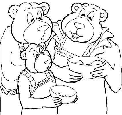 Goldilocks Three Little Bears Coloring Pages Goldilocks And The