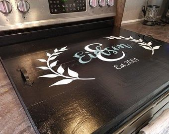 Engraved Wreath Noodle Board Stove Top Cover