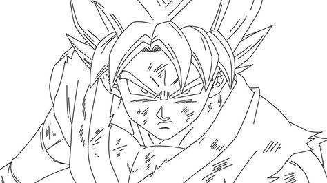 Imagenes De Goku Dios Azul Para Colorear Y Dibujar Visit Now For