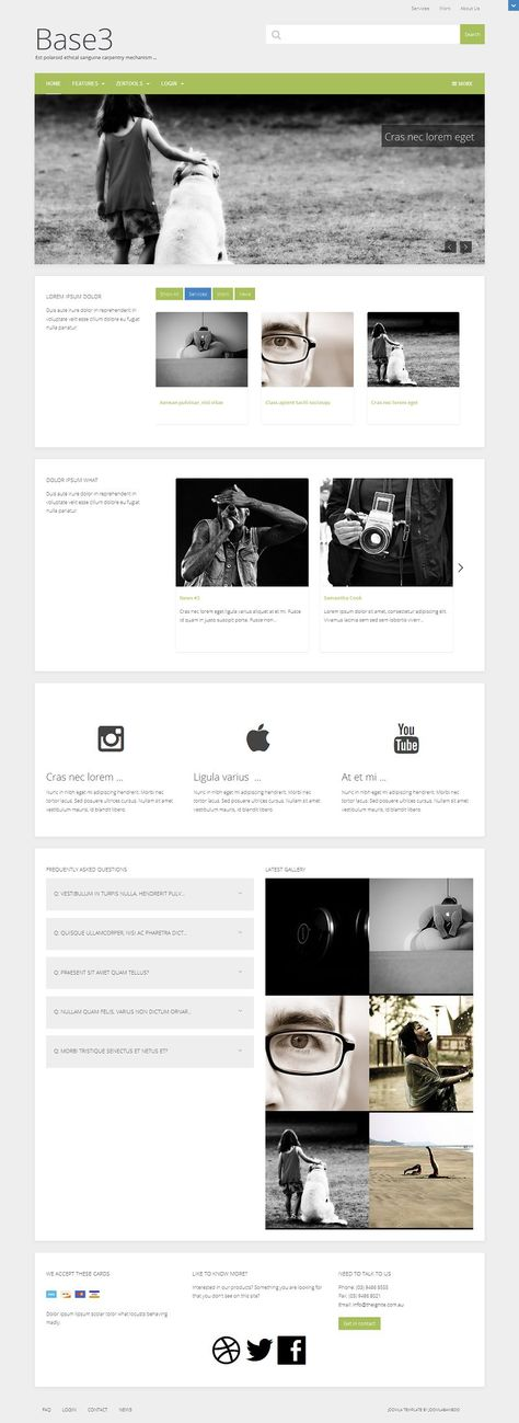 Base3 Responsive Joomla Business Template for Starters