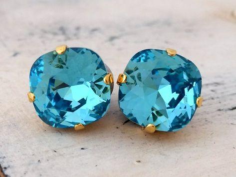 #weddings #jewelry #earrings #bridesmaidgift #bridalearrings #vintageearrings #bridesmaidsearrings #swarovskiearrings #dropearrings #rhinestoneearrings #weddingjewelry #aquablueearrings #skyblueearrings' #turquoiseearrings #brightblueearrings