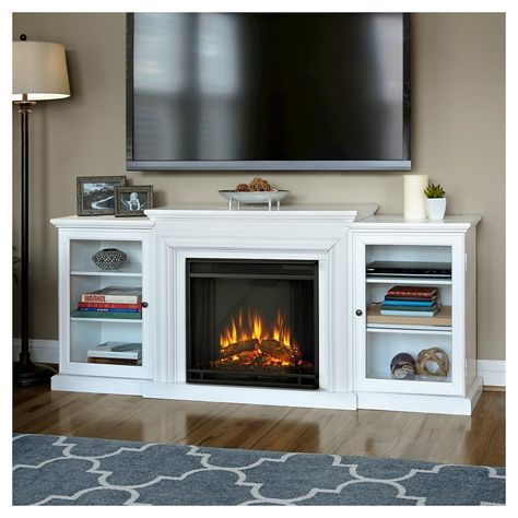 Real Flame - Frederick TV/media Stand Fireplace - White
