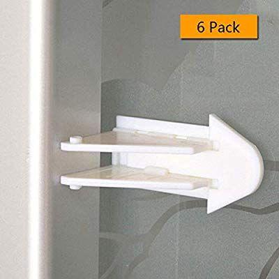 Alamic 6 Pack 3m Adhesive Sliding Door Lock For Patio Closet Windows Rv Baby Proof Child Safety Latch Sliding Doors Baby Safety Cabinets Child Safety Locks