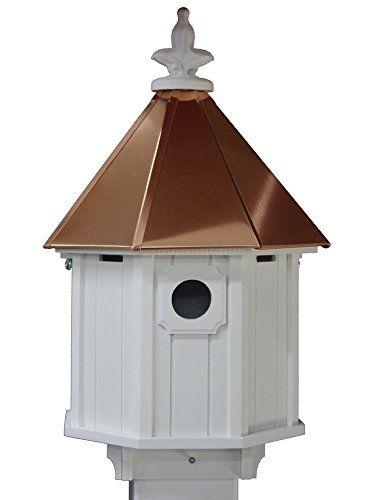 Octagon Bird House Song Bird Cellular Pvc Copper Roof Mad Https Www Amazon Com Dp B00kky7hpc Ref Cm Sw R Pi D Bird House Copper Roof Bird House Plans Free