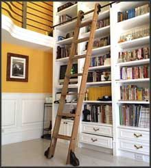 Rolling Library Ladders Custom Service Hardware Great For Kitchens Etc As Well Rolling Ladder