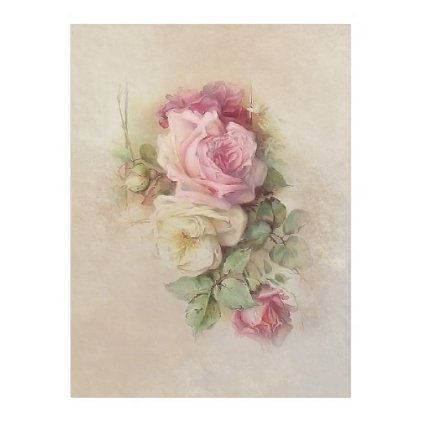 Handpainted Style Vintage Pink And White Roses Fleece Blanket Zazzle Com White Rose Tattoos Vintage Flower Tattoo Pink Rose Tattoos