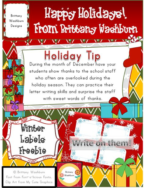 Winter Labels Freebie. I was hoping this would make it into the TpT Holiday book this year. Even though it didn't I still want to share it with all of you. Enjoy these cute snowflake labels for anything you could think of creating!