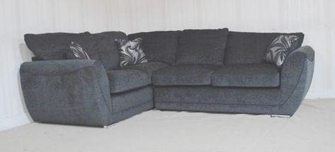 Buoyant Vercie Fabric Black 2 Piece Corner Sofa Corner Sofa Black Corner Sofa Sofa