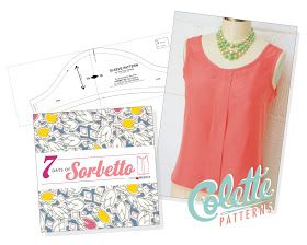 [Sew, incidentally...: Sleeve Pattern for the Sorbetto Top] FREE PDF Pattern to download. ***See this pin http://www.pinterest.com/pin/154318724704699290/ for the FREE matching  Sorbetto Top Pattern, by COLETTE PATTERNS too :)***