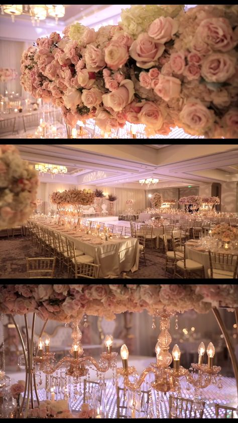 #wedding ideas elegant White and Soft Pink Reception Decorations - Reception Decor