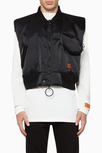 اوف وايت فيست بطبعة سقالة بناء بومبر فساتين فستان اسعار ماركات عالمية فخمة راقية Luxury Brands Fashion Shopping White And Black