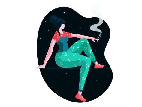 Smoking in the night