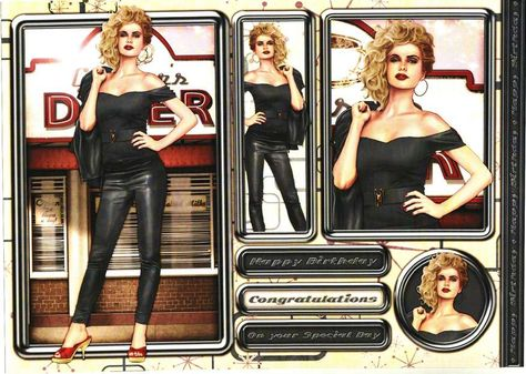 Debbi Moore Designs - Rock and Roll card toppers #3