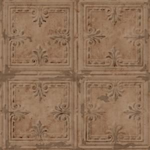 Nextwall Distressed Tin Tile Peel And Stick Wallpaper Nw32100 The Home Depot Tin Tiles Peel And Stick Wallpaper Faux Walls
