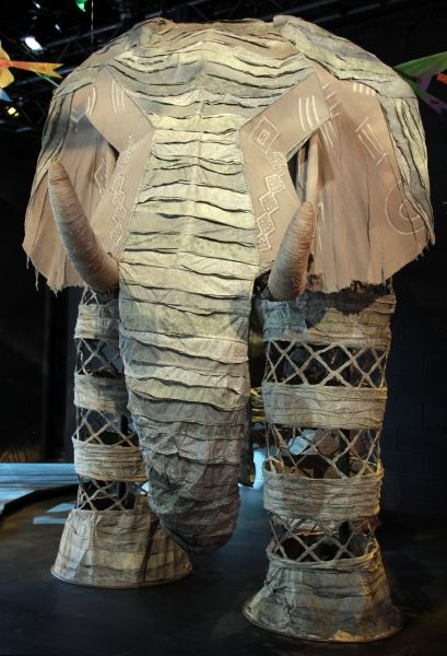 The Elephant costume from the Broadway production of The Lion King. Four actors move the elephant across the stage, one in each foot.
