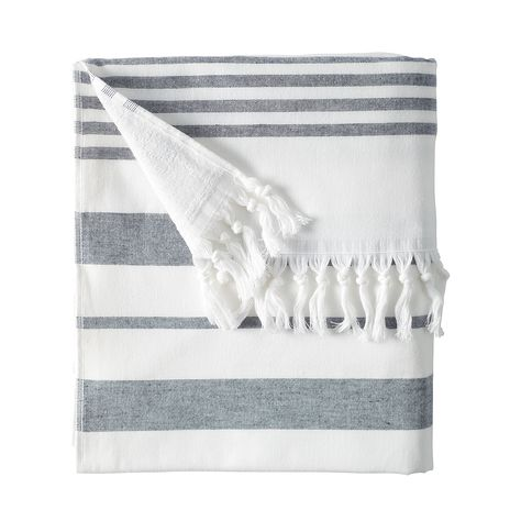 Fouta Beach Towel - Midnight by Serena & Lily @Luvocracy |