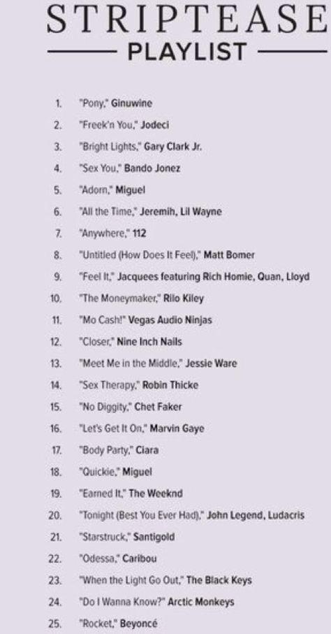 The perfect striptease playlist