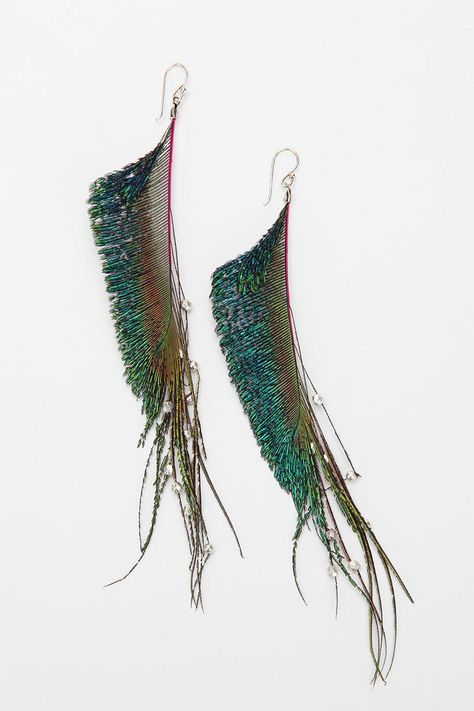Peacock Pop Feather Earring
