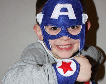 Sentia Mascara De Capitan America Y Pulsera Brazalete De Arm Cuff Captain America Mask Captain America