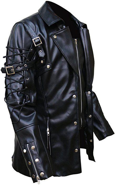 4e1bb8f39 Punk Rave Poison Black Jacket Mens Faux Leather Goth Steampunk ...